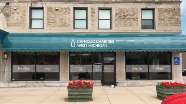 Benton Harbor Proposed Window Signage 600x335 - Catholic Charities West Michigan Expands with Benton Harbor Office, Creating 25 New Jobs and Serving 4 New Counties
