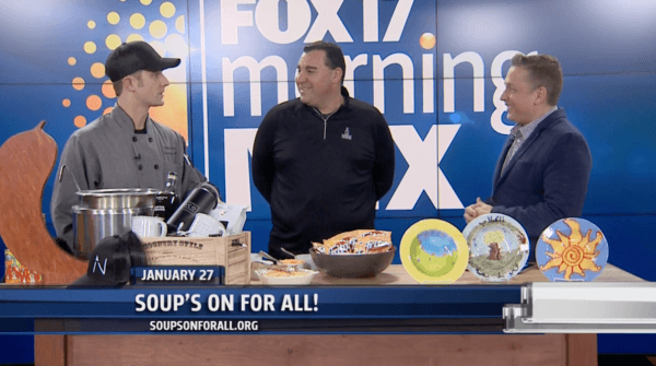 Fox17 SOFA 600x335 - Fox17: Soup's On For All! returns to the B.O.B. on Jan. 27