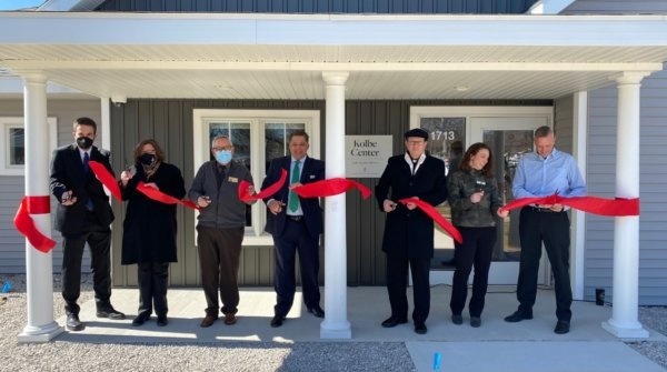 Kolbe Center Ribbon Cutting1 600x335 - WZZM13: Catholic Charities West Michigan opens drug and alcohol detox center in Muskegon